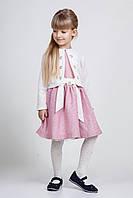 Модное детское платье с пышной юбкой и теплым пиджачком.