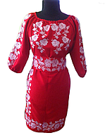 """Жіноче вишите плаття """"Женева"""" (Женское вышитое платье """"Женева"""") PT-0017"""