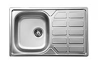 Кухонная мойка Deante SOUL 1-камерная оборотная, с крылом и декором, 780х490х160 мм, фото 1