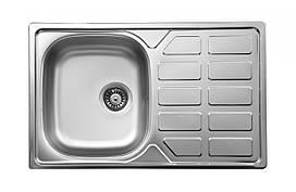 Кухонная мойка Deante SOUL 1-камерная оборотная, с крылом и декором, 780х490х160 мм