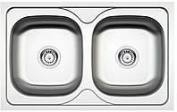 Кухонная мойка Deante MAREDO DEKOR 2-камерная оборотная, с декором, 800x500x170 мм