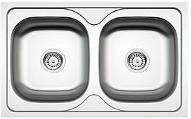 Кухонна мийка Deante MAREDO DEKOR 2-камерна оборотна, з декором, 800x500x170 мм
