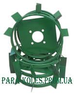 Колесо для мотоблока металлическое с грунтозацепами Ø 380 мм (с полосы)