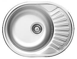 Кухонна мийка Deante TWIST DEKOR 1-камерна оборотна, з крилом і декором, 580х445х160 мм