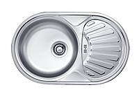 Кухонная мойка Deante TWIST DEKOR 1-камерная оборотная, с крылом и декором, 770х480х165 мм