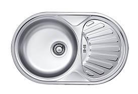 Кухонна мийка Deante TWIST DEKOR 1-камерна оборотна, з крилом і декором, 770х480х165 мм