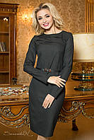 Женское классическое демисезонное платье больших размеров