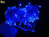 Внутренняя Гирлянда светодиодная нить 13.5 м, 200 led  белый прозрачный провод - цвет синий