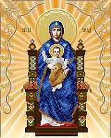 Схема для вышивания бисером Богородица на престоле АС3-036