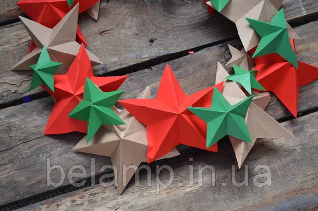 рождественский веночек из бумаги своими руками