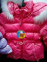 Зимний пуховик для девочки (натуральный пух)