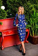 Платье из джинса приталенное с боковыми карманами