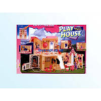 """Домик для куклы детский с мебелью 3 комнаты игровой набор  """"Gloria"""" 2082+1"""