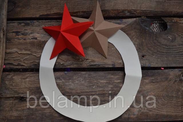 новогодний веночек из звезд своими руками