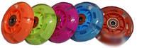 Колесо для роликов 80мм светящееся широкий обод (с подшипниками, любые цвета, микс)