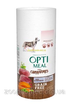 Optimeal (Оптимил) Корм для собак беззерновой с уткой и овощами, 0,65 кг