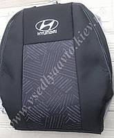 Авточехлы HYUNDAI Accent с 2011 г. (цельная спинка и сидение)