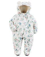 Зимний комбинезон для новорожденных девочек Картерс + верняя одежда