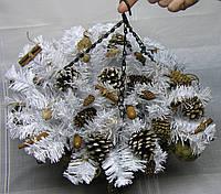 Новогодняя, рождественская композиция в подвесном кашпо в  экостиле