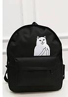 Городской рюкзак с котом,показывающим средний палец