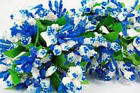 Веточки для декора бело-синие уп/12 веточек