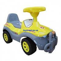 Каталка-толокар детская машинка Джипик Орион 105 серый