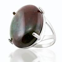 Яшма гелиотроп, серебро 925, кольцо, 117КЯ