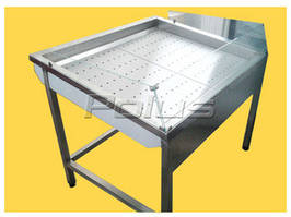 Стол производственный для выкладки рыбы на льду