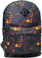 Рюкзак городской с рисунком (Лава, огонь)