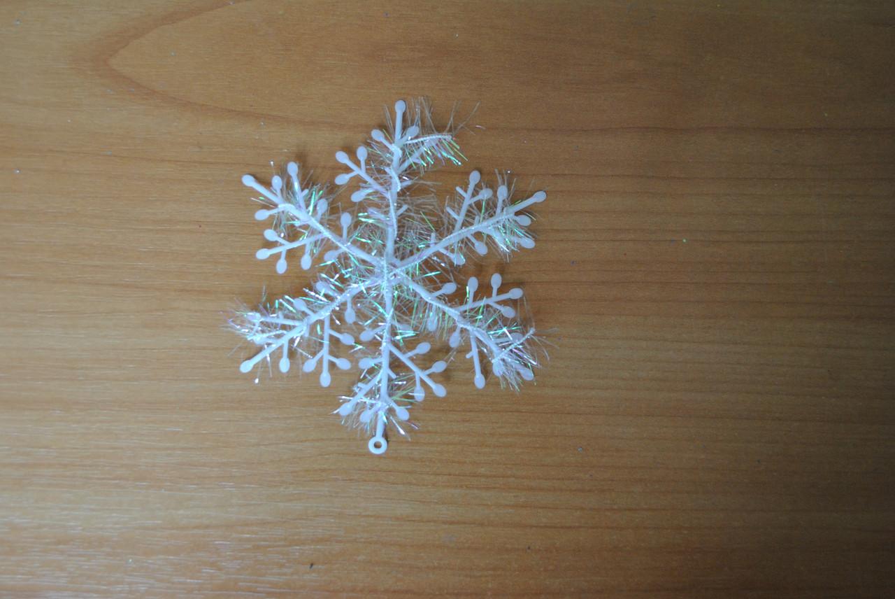Новогоднее украшение Снежинка мягкая №5, 16см