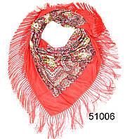 Павлопосадский шерстяной платок красный, фото 1