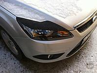 Реснички Ford Focus II седан, Накладки на фары Форд Фокус 2
