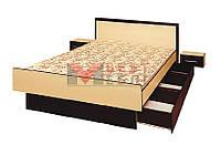 Кровать 160 спальни Комфорт (с основой под матрас / без матраса)