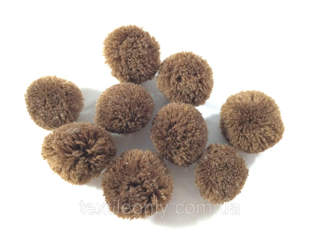 Помпон ( Бубон) из акриловых нитей коричневый small
