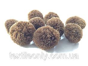 Помпон ( Бубон) из акриловых нитей коричневый small, фото 2