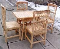 Комплект кухонних плетених меблів з лози, фото 1