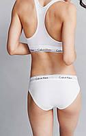 Комплект нижнего белья Calvin Klein топ и слипы (плавки) белый
