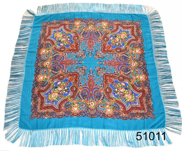 Павлопосадский шерстяной платок 2