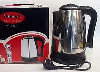 WIMPEX WX-2527 Электрический супер-чайник, Электро чайник, Нержавейка