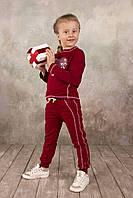 Брюки для девочки спортивные бордовые, серый меланж 3-8 лет размер 98-128