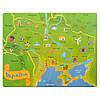 Пазл - вкладыш, карта «Україна»