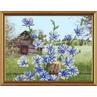 """Схема бисером """"Голубые цветочки"""""""
