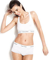Комплект нижнего белья Calvin Klein топ и шортики размер М белый