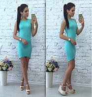 Летнее стильное платье голубое
