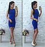 Летнее стильное платье синее