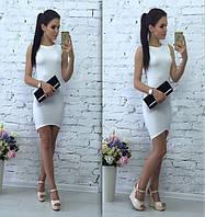 Летнее стильное платье белое
