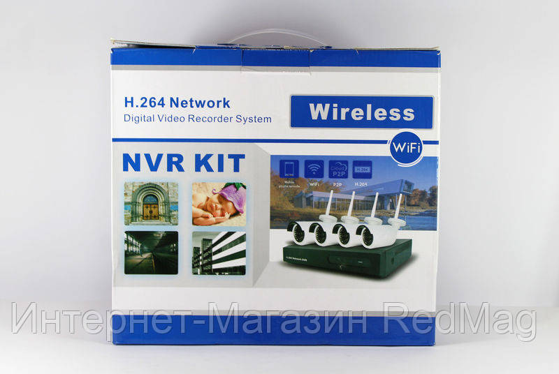 Комплект видеонаблюдения с беспроводными камерами 6004wifi