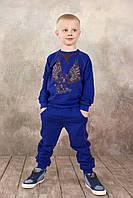 Брюки для мальчика спортивные синие, темно-серые 3-8 лет размер 98-128