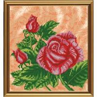 """Схема бисером """"Красная роза"""""""