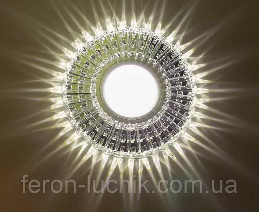 Вбудований світильник Feron 7312B з LED підсвічуванням стельовий Точковий
